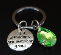 Flight Attendants Are Just Plane Great Keychain, Flight Attendant Gift, Aviator