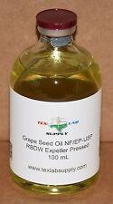 Tex Lab Supply Grape Seed Oil NF/EP-USP/RBDW Expeller Pressed 100 mL