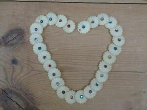 Vintage-plastique-Daisy-Chain-Childrens-Toy-collier-de-couleur-034-Pierres-E6