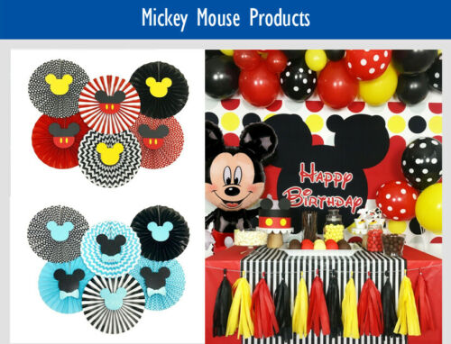 Mickey Mouse Birthday Cake Age Candles Cake Topper Party Decorations Supplies