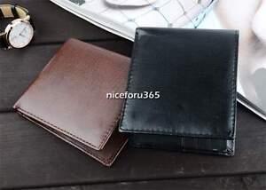 Men-039-s-Leather-Briefcase-Wallet-Pocket-Card-Holder-Clutch-Bag-Bifold-Slim-PurseAU