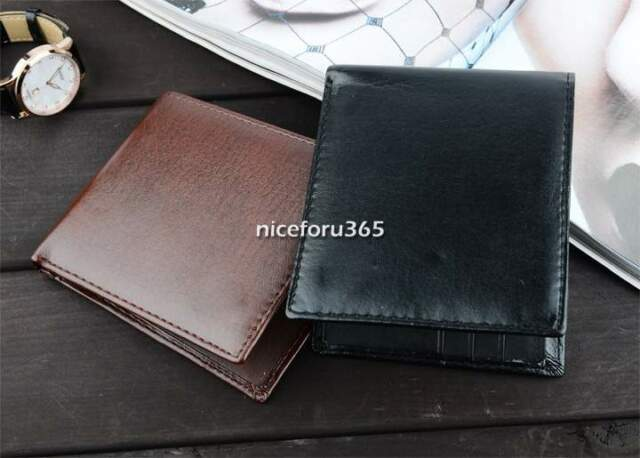 Stylish Men's Slim Purse PU Leather Wallet Pocket Card Clutch Bifold BriefcaseN4