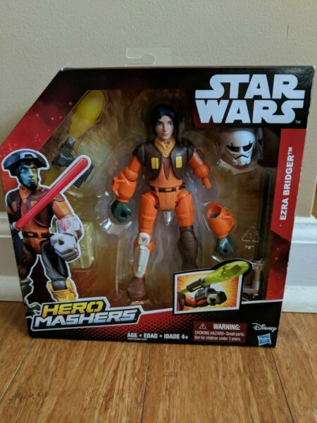(4b1) Ezra Star Wars Hero Mashers Rebelles Ezra Bridger Deluxe Figure Navires Gratuit