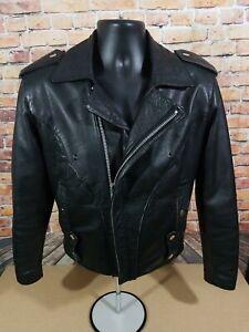 Vintage-Wilsons-Open-Road-Full-Zip-Leather-Motorcycle-Biker-Jacket-Mens-Size-XS