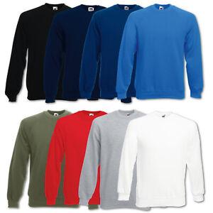 Details zu Fruit of the Loom Sweatshirt Pullover Classic Raglan Pulli Gr. S M L XL XXL
