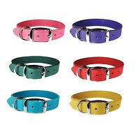 Luxe Leather Dog Collars - 3/4 - 3 Sizes - 6 Colors - Classic Yet Luxurious