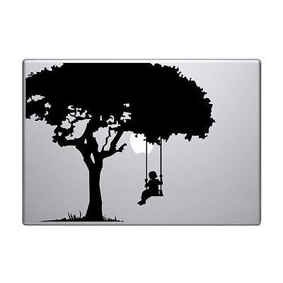Girl Swing Decal for Macbook Pro Sticker Vinyl Mac 13 15 11 Laptop Skin Tree Fun