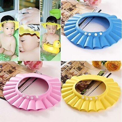 Adjustable Safe Shampoo Shower Bath Soft Cap Hat Protect for Baby Kids Children