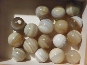 Banded Agate Marble Bulls Eye One Of One to 1 1/8 Inch  Natural Gemstone Vintage