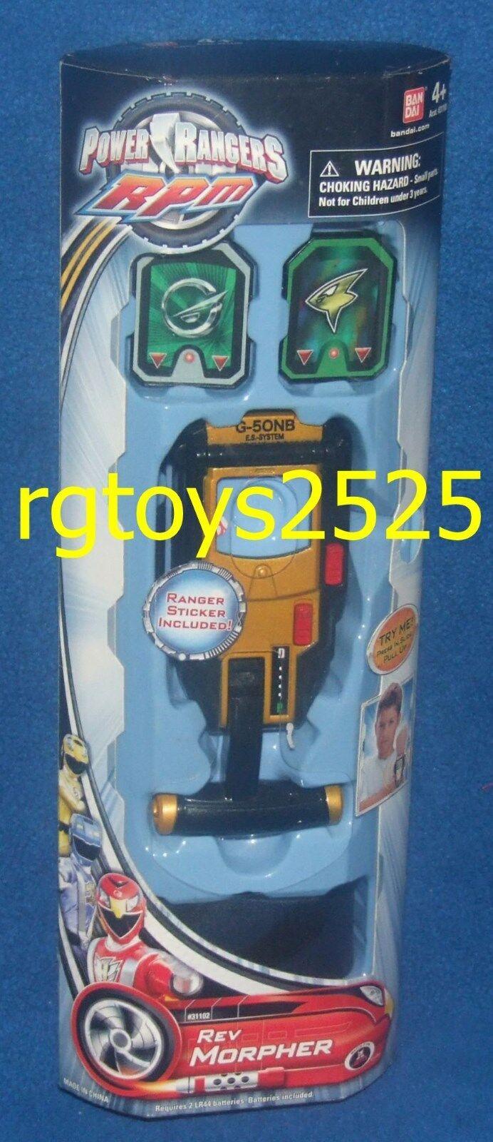 Power Rangers RPM REV MORPHER New Factory förseglade ljud 2009