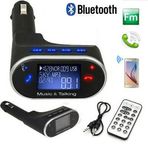 Details about Bluetooth FM Transmitter USB Charger w/Display for Android  Phone Car Speakers US