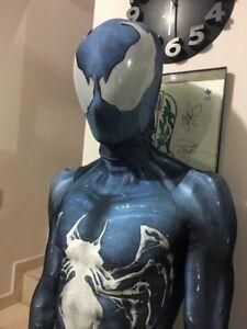 Venom Symbiote Spiderman Costume Cosplay Zentai Spider Man Suit For
