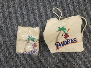 2 pack! Vintage 1990s SAN DIEGO PADRES Baseball  Canvas Duffle Tote bags