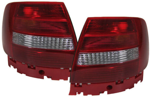 FACELIFT CLEAR REAR TAIL LIGHTS LAMPS FOR AUDI AUDI A4 B5 SALOON 1999-11//2000