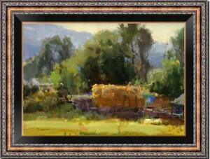 Hand-painted-Original-Oil-painting-art-Landscape-tree-on-Canvas-24-034-x36-034