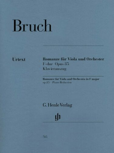 85 Viola Piano 051480785 Bruch Romance for Viola and Orchestra in F Major Op