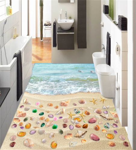 3D Beach Dolphins 662 Floor WallPaper Murals Wallpaper Mural Print AJ AU Lemon