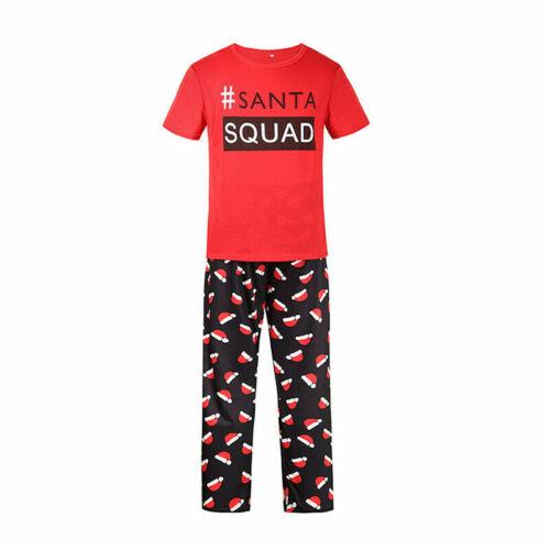 UK Christmas Family Matching Pyjamas PJs Set Santa Sleepwear Nightwear Xmas Gift