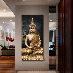 Framed/Unframed Canvas Buddha Modern Home Wall Paintings Art Decor Xmas