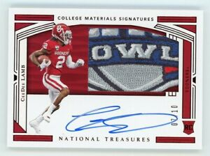 2020 National Treasures Collegiate CeeDee Lamb Bowl Patch RC Auto #07/10