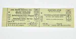Vintage-Maine-Central-Railroad-Ticket-Hell-Gate-Bridge-Transfer-SM2A