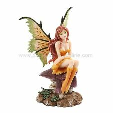 "Amy Brown Fantasy Little Mae Faery Mushroom Fairy Statue Enchanted 6""h Figurine"