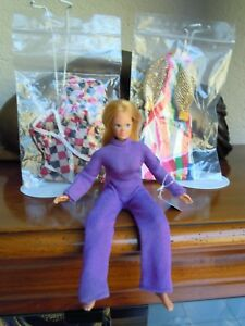 1972 dinah mite + 2 outfits mego dolls