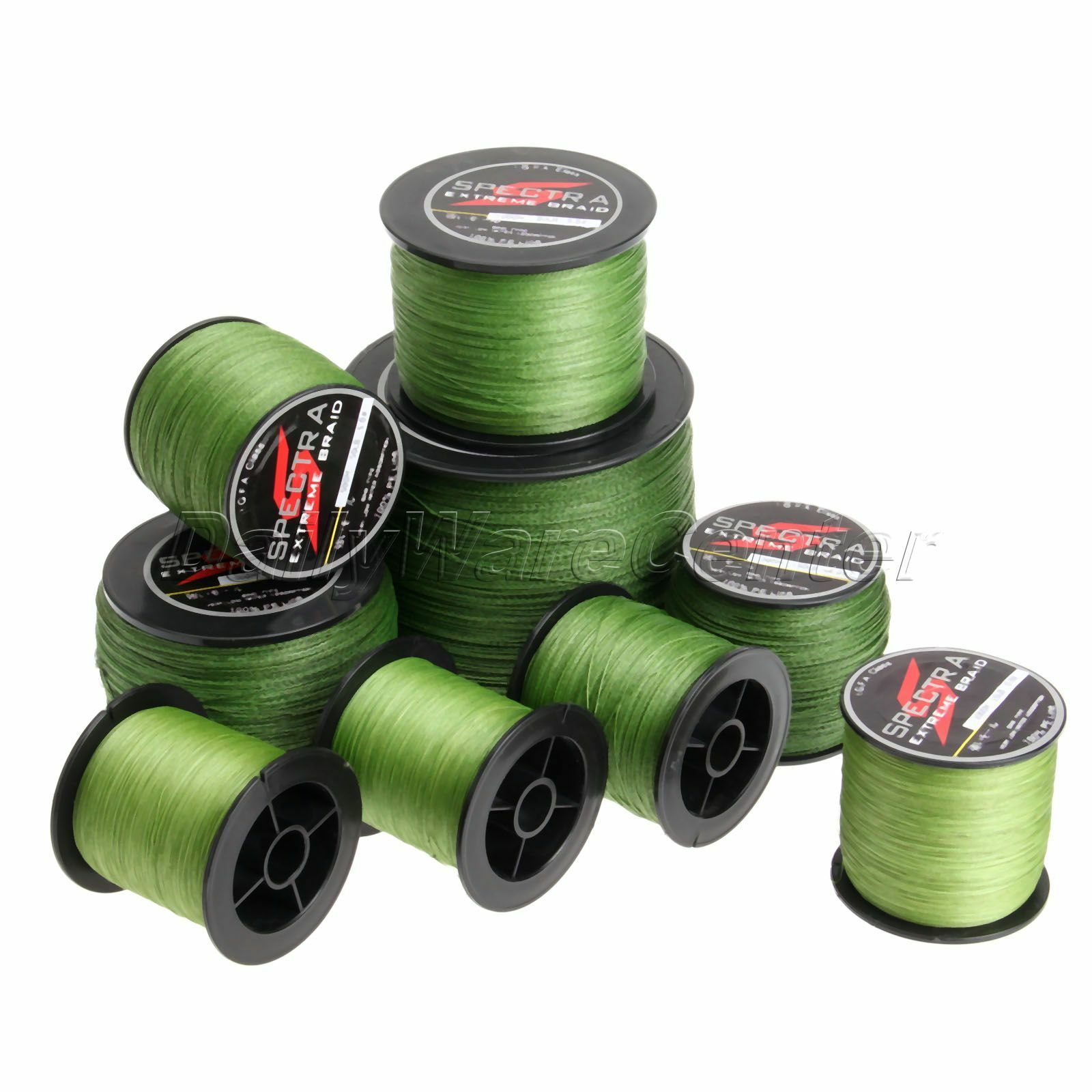 300M -1000M 10LB-150LB 4 Strands Army Green Spectra PE Braided Line Fishing Line