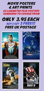 Movie-Poster-Collection-12-Laminated-A4-Buy-2-Get-3-FREE