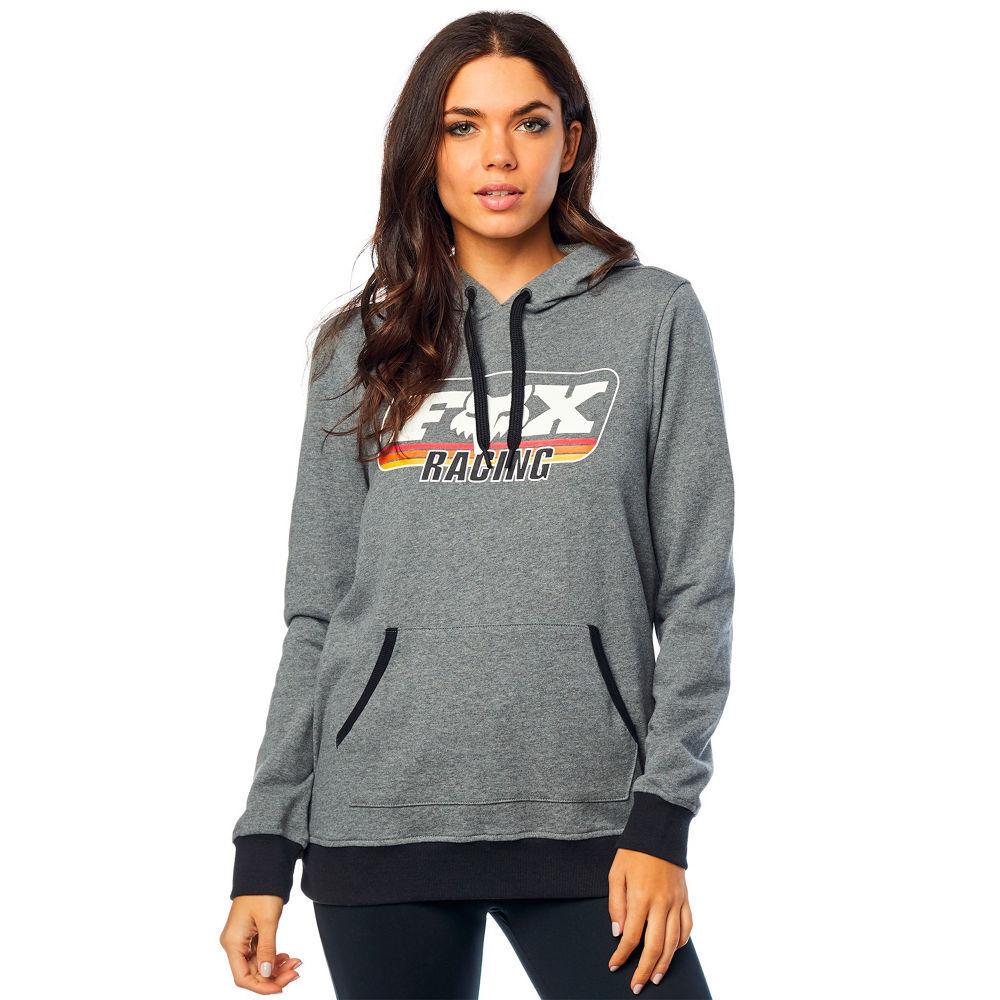 Fox Racing Racing Racing Girls Sweatshirt Hoody Retro Fox Po Hdy Graphite 21824-185-L 7c0d8a