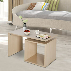 Coffee Table With Storage Cubes.Details About Coffee Table Room Storage Cube Design Side Magazine Shelf Modern Furniture Wood