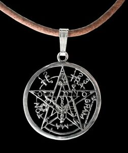 Sterling silver esoteric pentagram pendant small tetragrammaton image is loading sterling silver esoteric pentagram pendant small tetragrammaton necklace mozeypictures Gallery