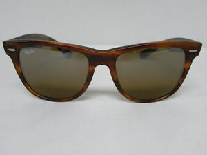 5cd1b88c21 New Vintage B L Ray Ban Wayfarer II Tortoise TGM Top Gradient Mirror ...