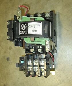 GE General Electric Size 2 Starter Cat.# CR206D0 115-120 volt coil