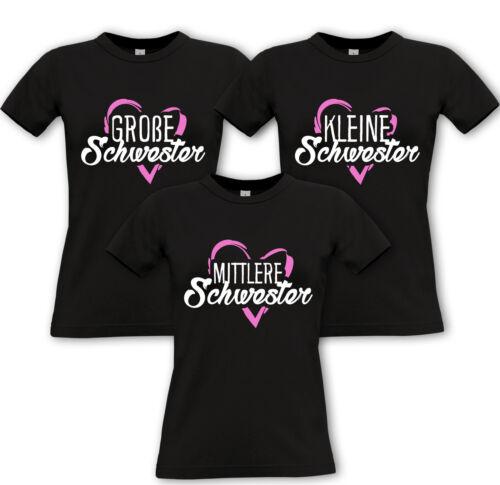 Kleine SCHWESTER Partner Shirts Geschwister Familie Fun Mittlere Grosse