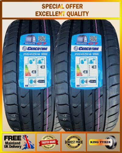 2*255/45ZR18 103W AOTELI 2 NEW TYRES AMAZING RATINGS, 2554518 BUDGET 255 45 18