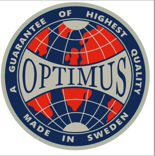 ONE OPTIMUS 8R PRIMUS 111 BOX TIN STICKER DECAL LANTERN STOVE REPLACEMENT 1
