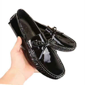 Men Patent Leather Shiny Bowknot Bow
