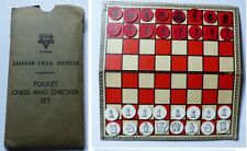 Jeux d'échec de poche WWII par canadian  YMCA  Pocket Chess YMCA overseas Canada