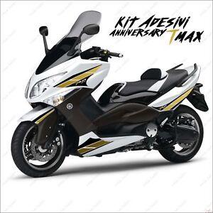 AdhÉsifs Anniversary Graphique Compatible Yamaha Tmax T-max 08 11 Noir Oro Sport