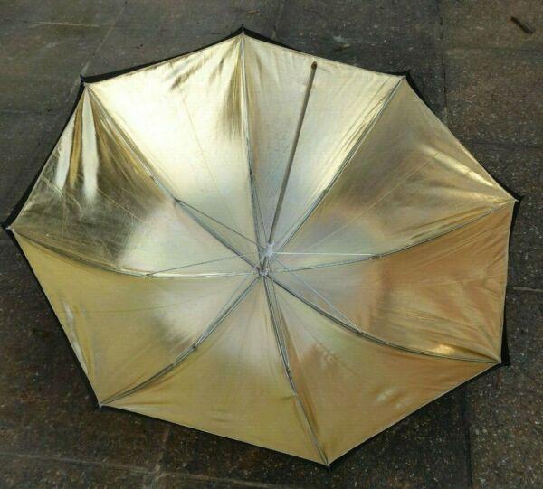 """Kood 33""""/84cm Noir & Or Réflective Studio Flash Parapluie Conduire Un Commerce Rugissant"""