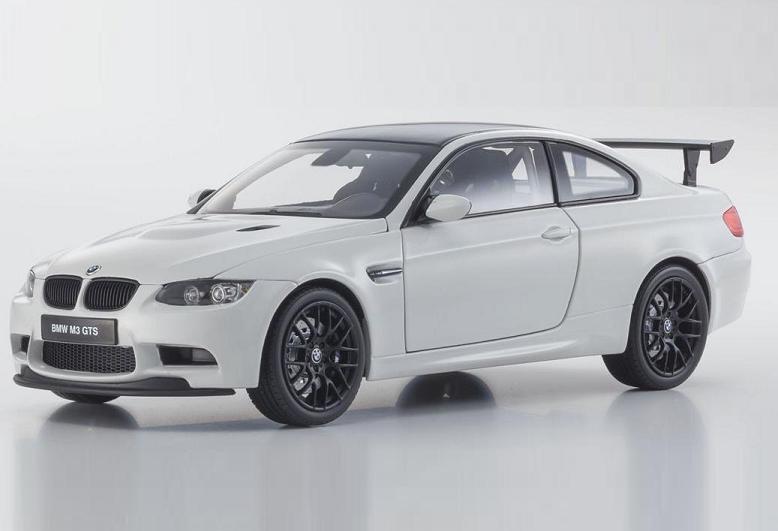 1/18 Kyosho BMW M3 GTS E92 bianca Diecast Model Car bianca 08739W