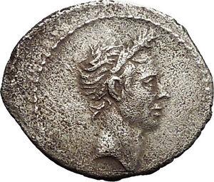40BC-Deified-JULIUS-CAESAR-Portrait-Rare-TYPE-Ancient-Silver-Roman-Coin-i53393