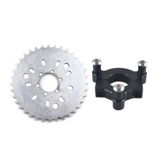 "415 Chain Sprocket 1.5/"" 38T Black CNC Adapter Motorised Bicycle 50cc 60cc 80cc"
