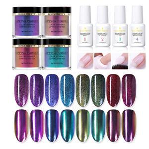 BORN-PRETTY-Dipping-Powder-System-Chameleon-Mirror-Effect-Nail-Art-Kit-NO-UV-Gel