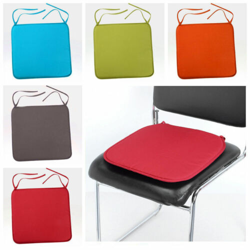 Cushion Office Chair Garden Indoor Dining Seat Padded Tie On Square Foam Patio