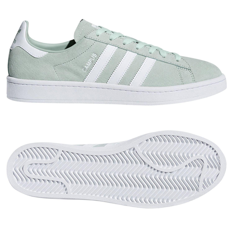 Adidas ORIGINALS para hombre Campus Zapatillas verdes Retro De colección Informal Mod Nuevo BNWT