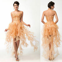 BEADED Evening Party Ball Gown Prom Bridesmaid Dress PLUS SIZE 10 12 14 16 18 20