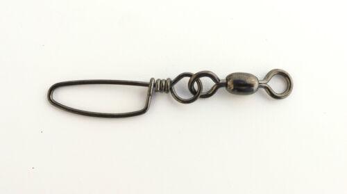 Premium Black Nickel 4//0 350lb Coastlock Snap Swivel 100pieces