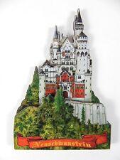 Schloss Neuschwanstein Füssen Holz Souvenir Magnet,Germany Deutschland,Neu